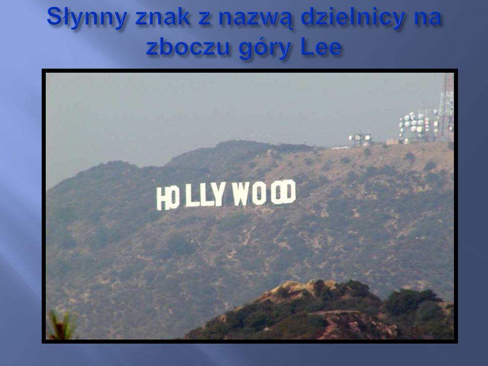 Słynny znak z nazwą dzielnicy na zboczu góry Lee