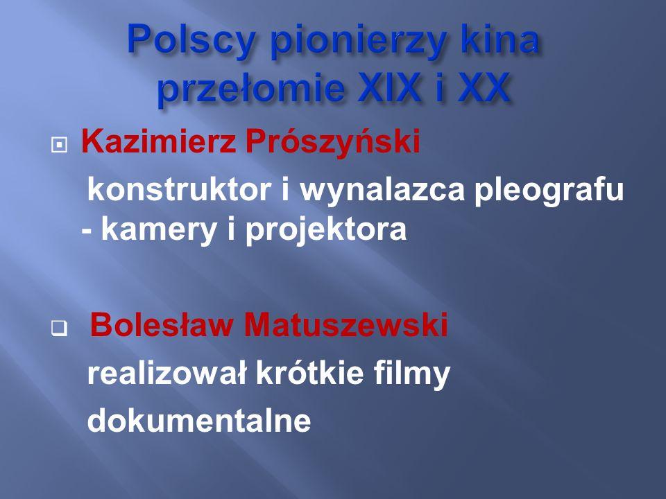 Polscy pionierzy kina przełomie XIX i XX