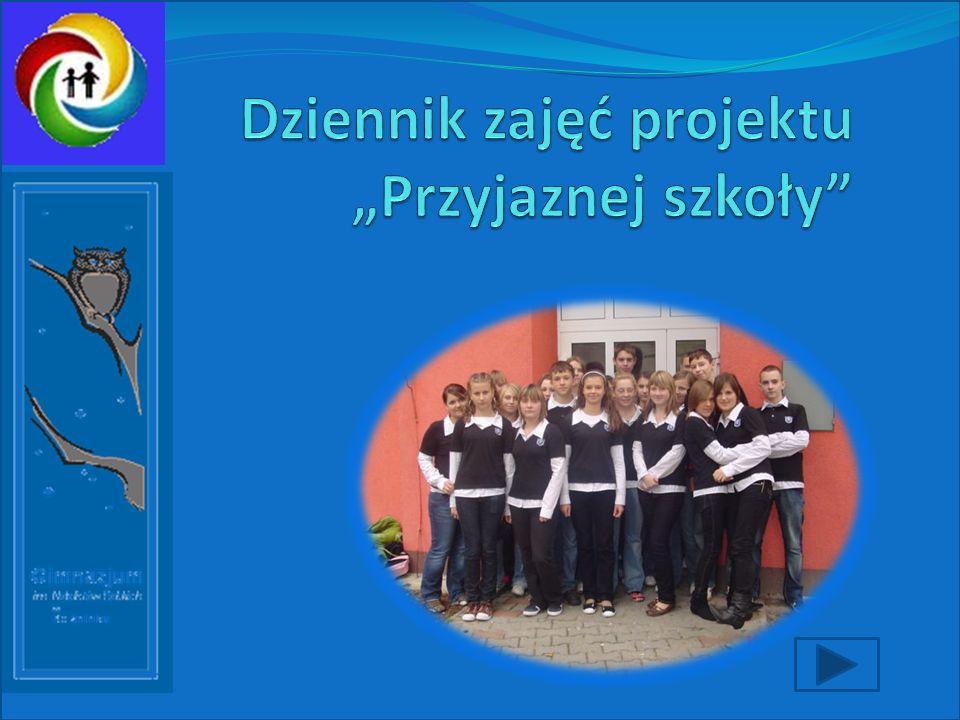 """Dziennik zajęć projektu """"Przyjaznej szkoły"""