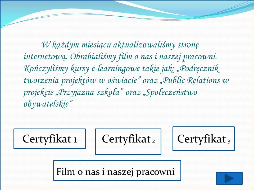 Certyfikat 1 Certyfikat 2 Certyfikat 3
