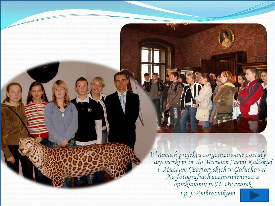 W ramach projektu zorganizowane zostały wycieczki m. in