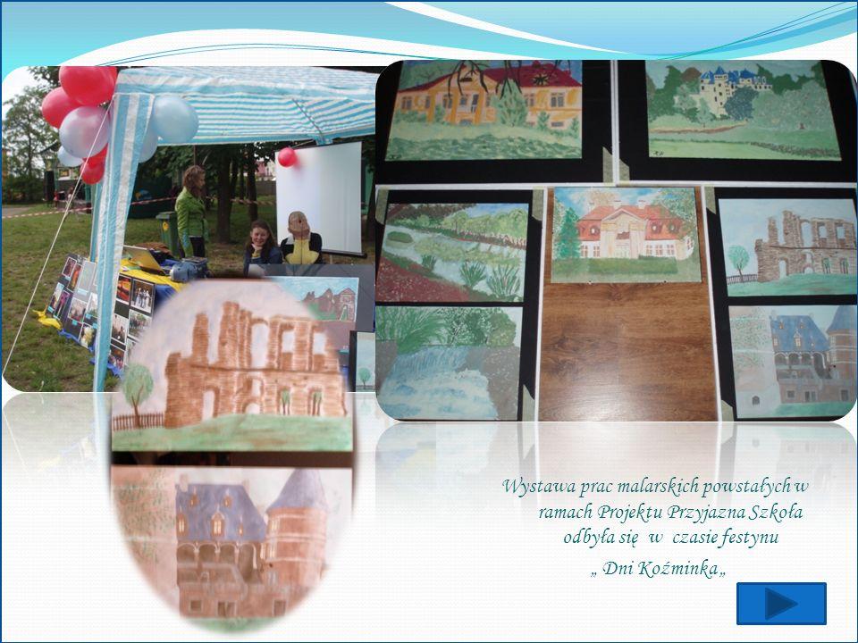 Wystawa prac malarskich powstałych w ramach Projektu Przyjazna Szkoła odbyła się w czasie festynu
