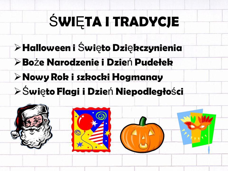 ŚWIĘTA I TRADYCJE Halloween i Święto Dziękczynienia