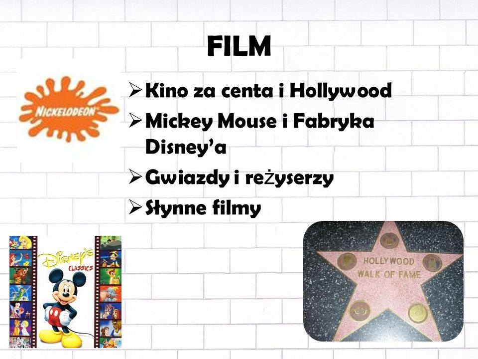FILM Kino za centa i Hollywood Mickey Mouse i Fabryka Disney'a