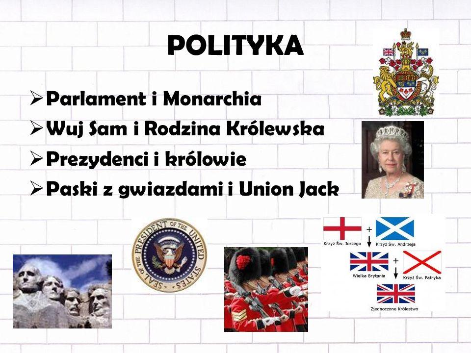 POLITYKA Parlament i Monarchia Wuj Sam i Rodzina Królewska
