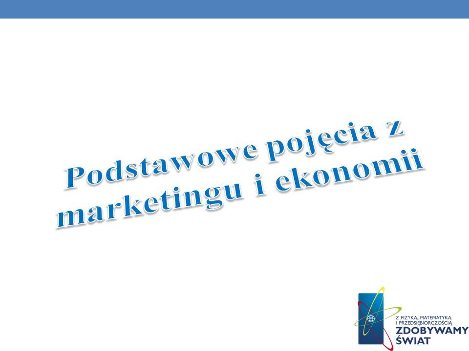 Podstawowe pojęcia z marketingu i ekonomii