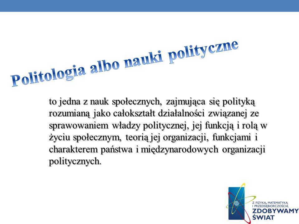 Politologia albo nauki polityczne