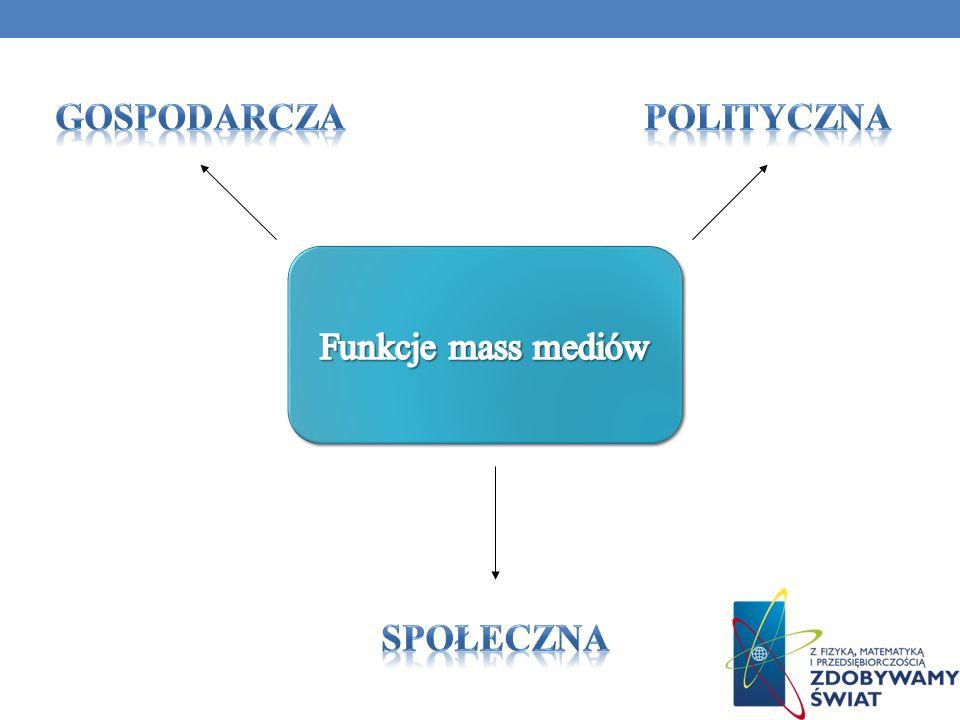 Gospodarcza Polityczna Funkcje mass mediów Społeczna