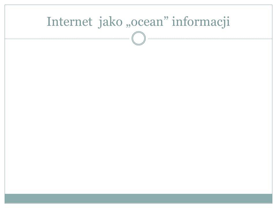 """Internet jako """"ocean informacji"""