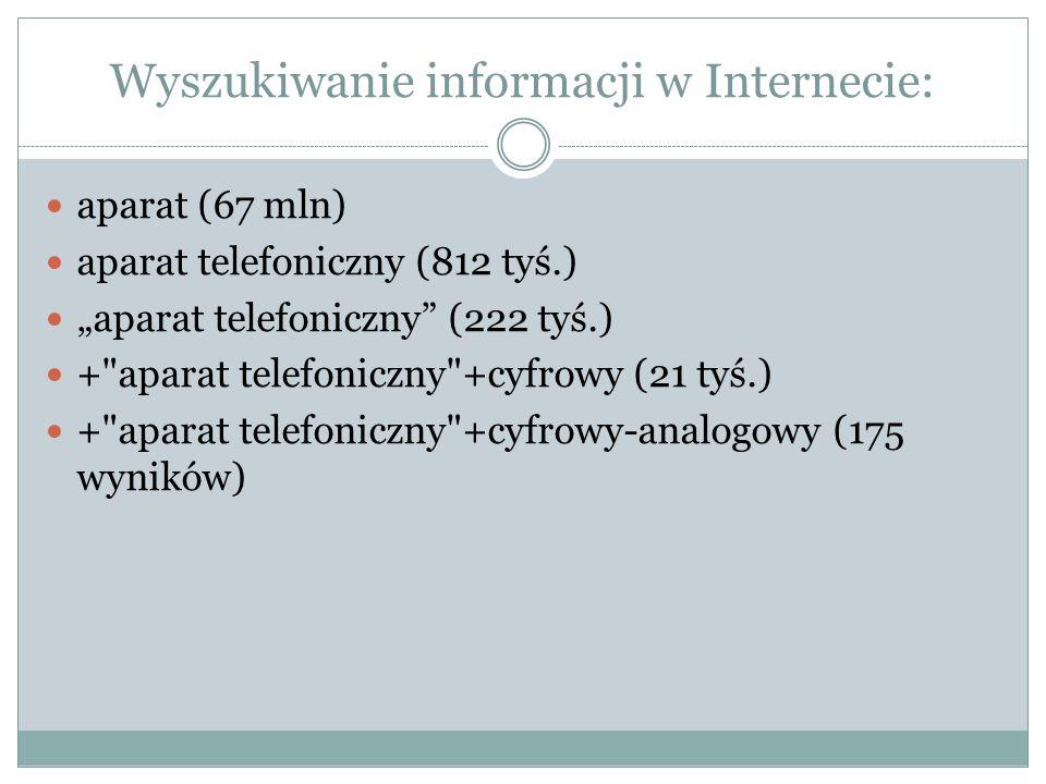 Wyszukiwanie informacji w Internecie: