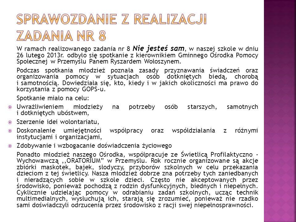 Sprawozdanie z realizacji zadania nr 8