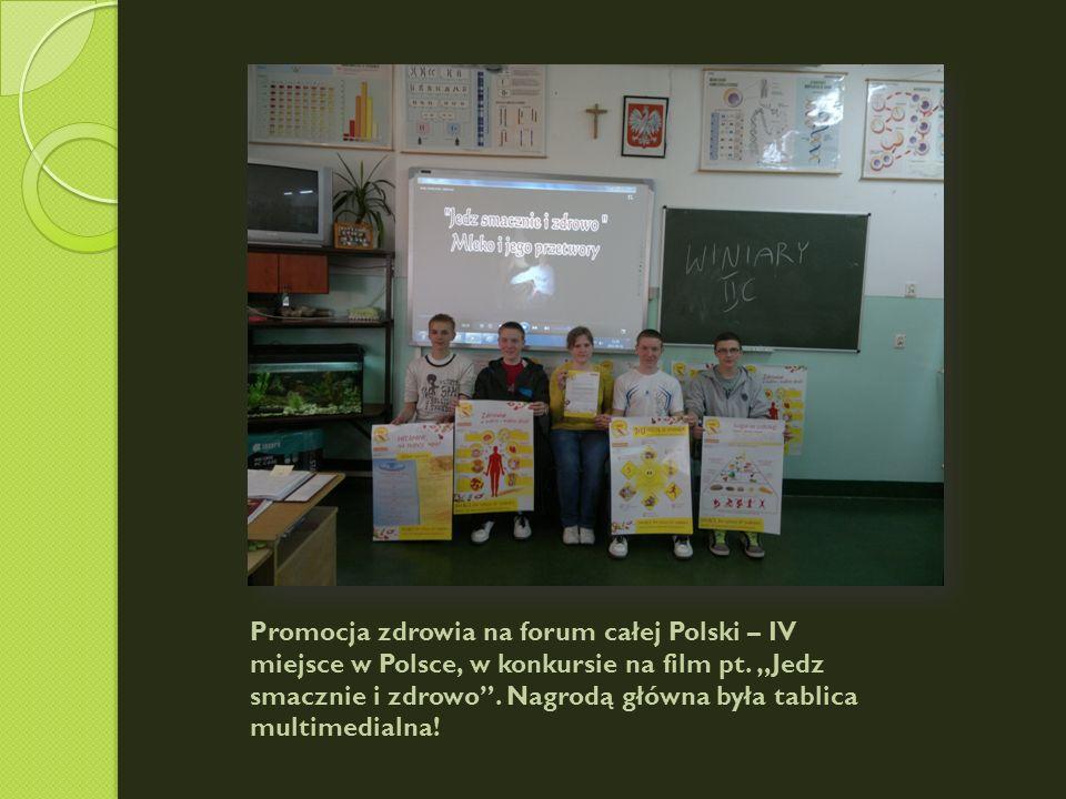 Promocja zdrowia na forum całej Polski – IV miejsce w Polsce, w konkursie na film pt.