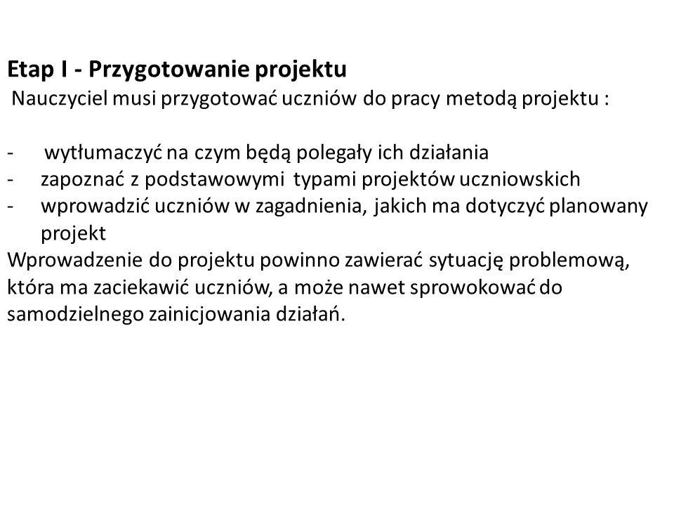 Etap I - Przygotowanie projektu