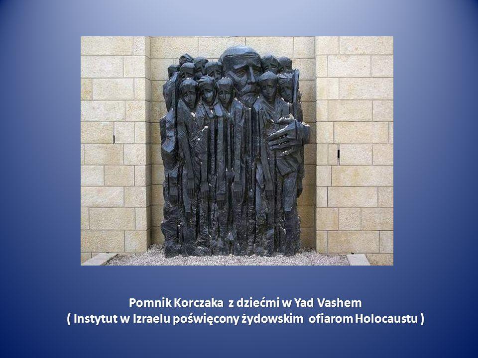 Pomnik Korczaka z dziećmi w Yad Vashem
