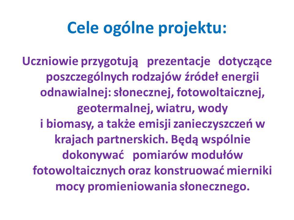 Cele ogólne projektu: