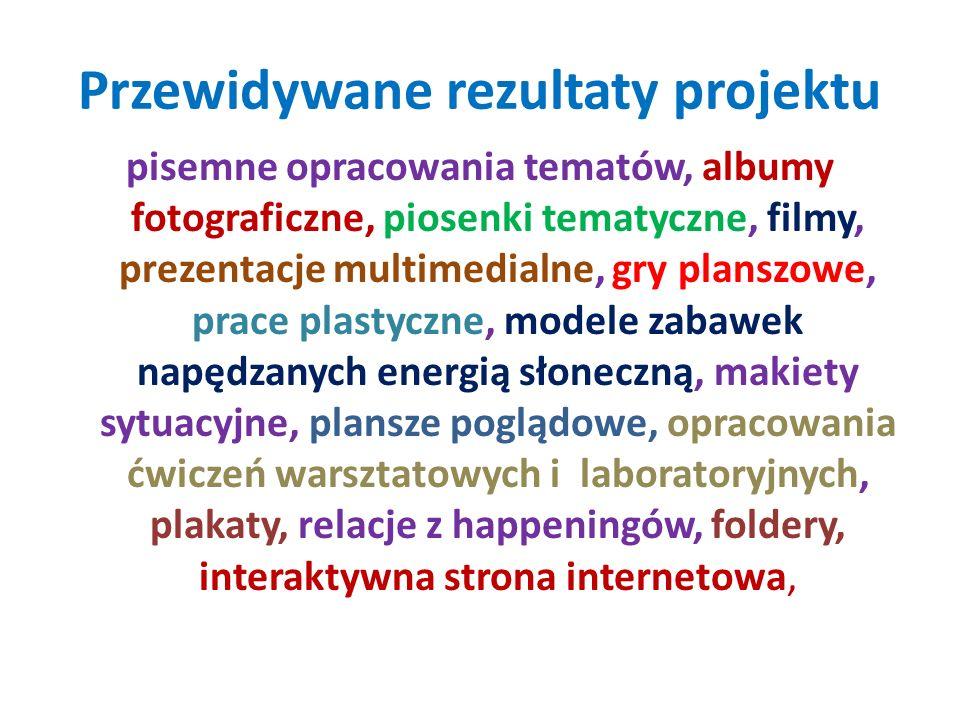 Przewidywane rezultaty projektu