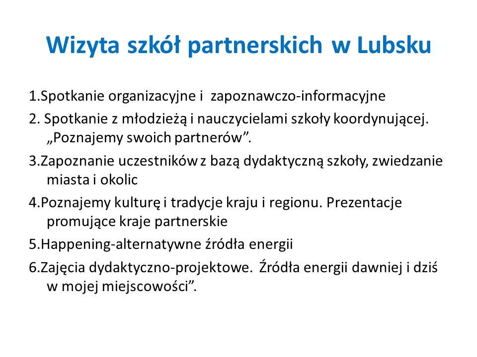 Wizyta szkół partnerskich w Lubsku