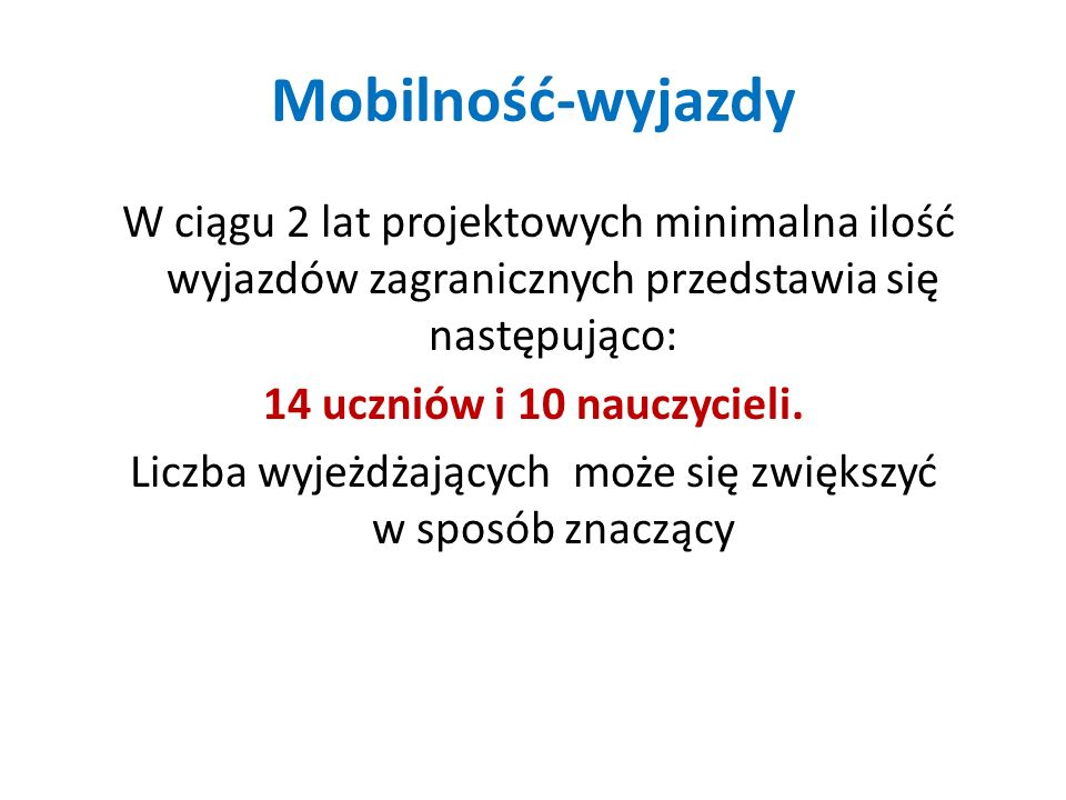 Mobilność-wyjazdy
