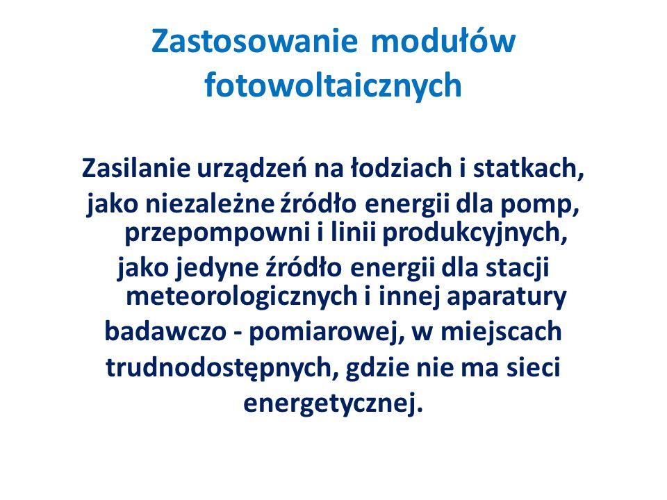 Zastosowanie modułów fotowoltaicznych