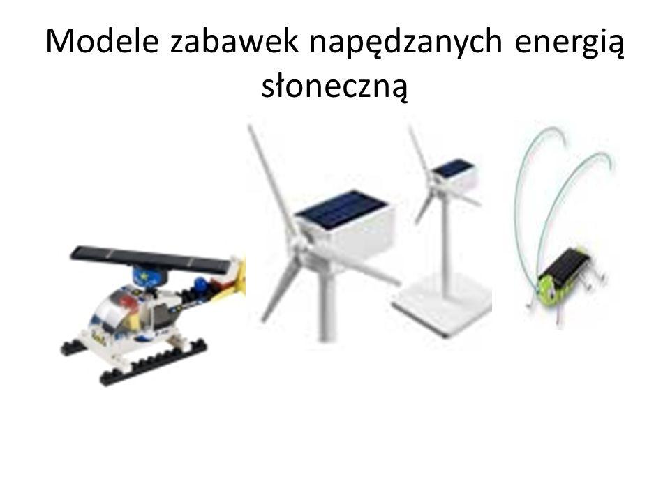 Modele zabawek napędzanych energią słoneczną