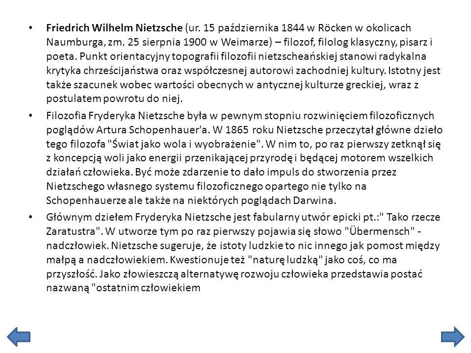 Friedrich Wilhelm Nietzsche (ur