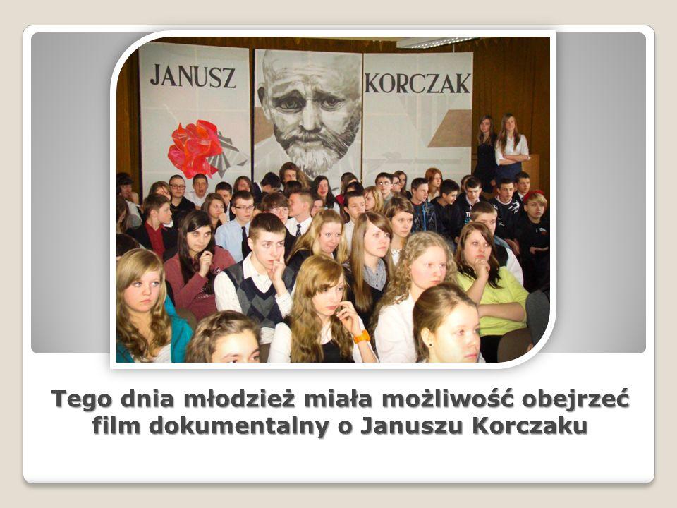 Tego dnia młodzież miała możliwość obejrzeć film dokumentalny o Januszu Korczaku