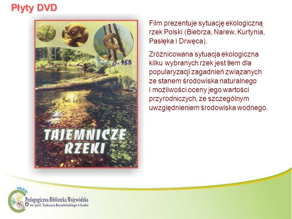 Płyty DVDFilm prezentuje sytuację ekologiczną rzek Polski (Biebrza, Narew, Kurtynia, Pasłęka i Drwęca).