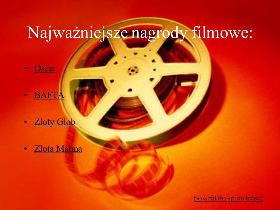 Najważniejsze nagrody filmowe: