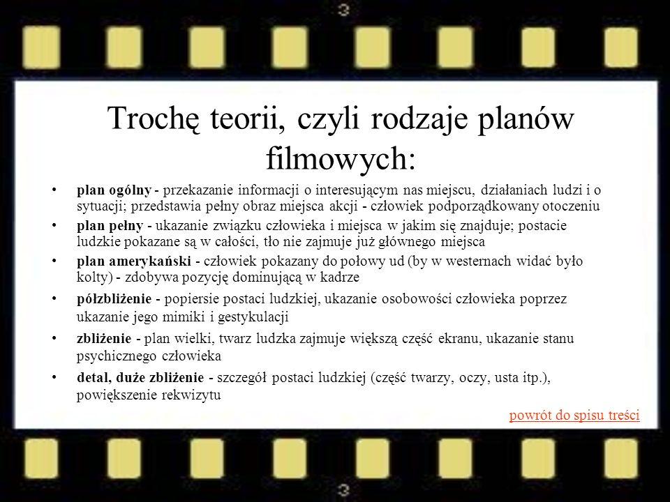 Trochę teorii, czyli rodzaje planów filmowych: