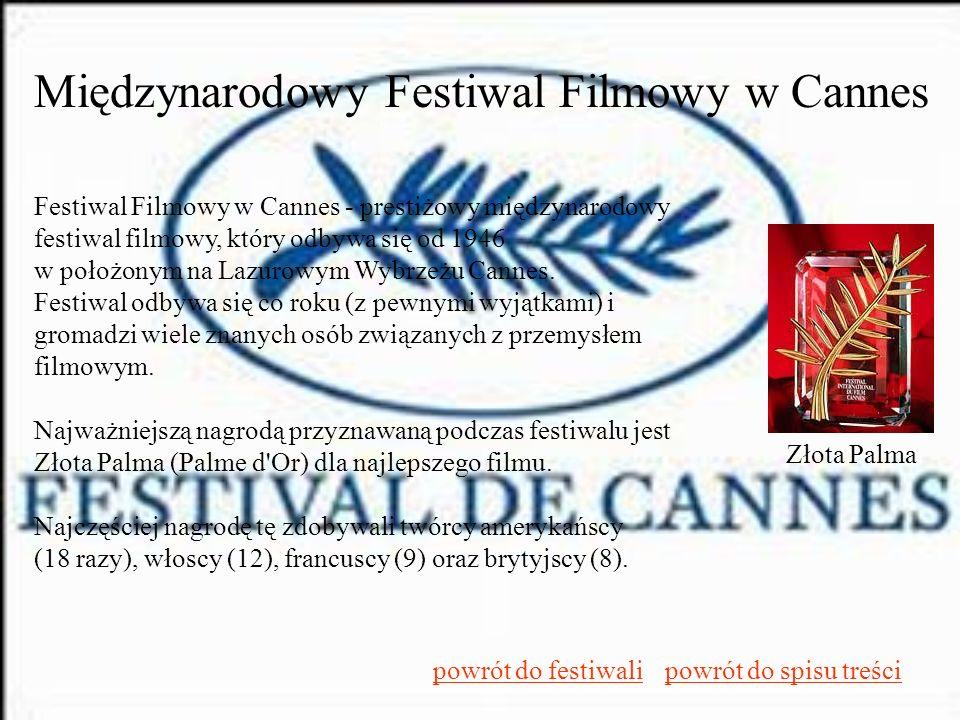 Międzynarodowy Festiwal Filmowy w Cannes