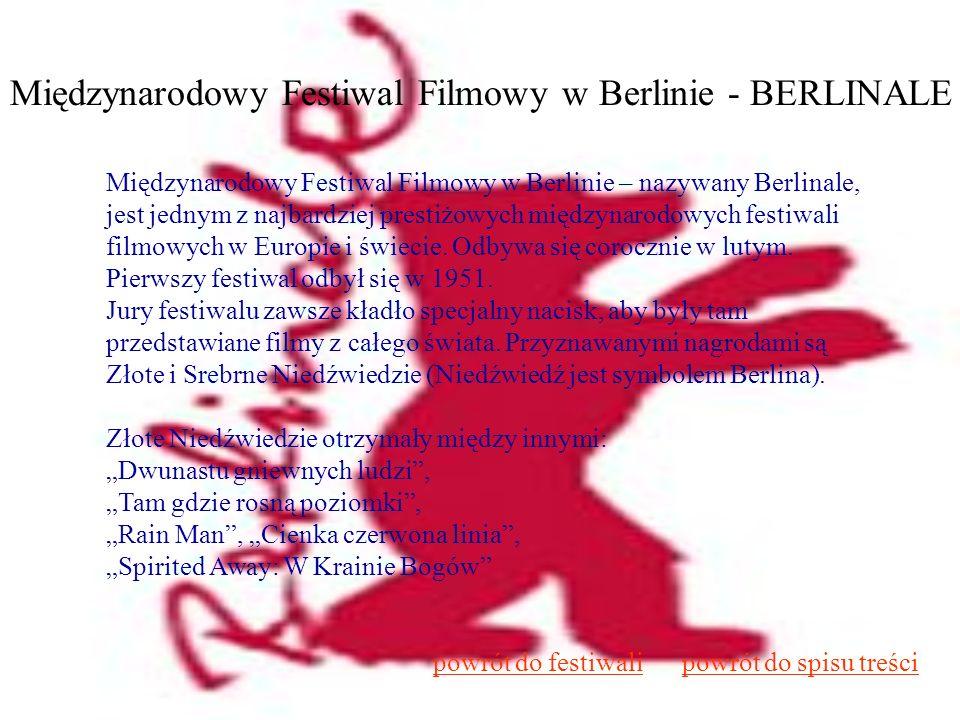 Międzynarodowy Festiwal Filmowy w Berlinie - BERLINALE