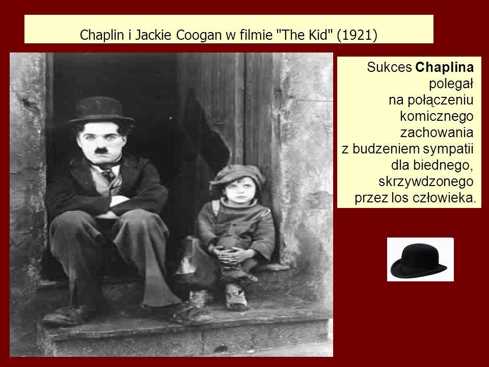 Chaplin i Jackie Coogan w filmie The Kid (1921)