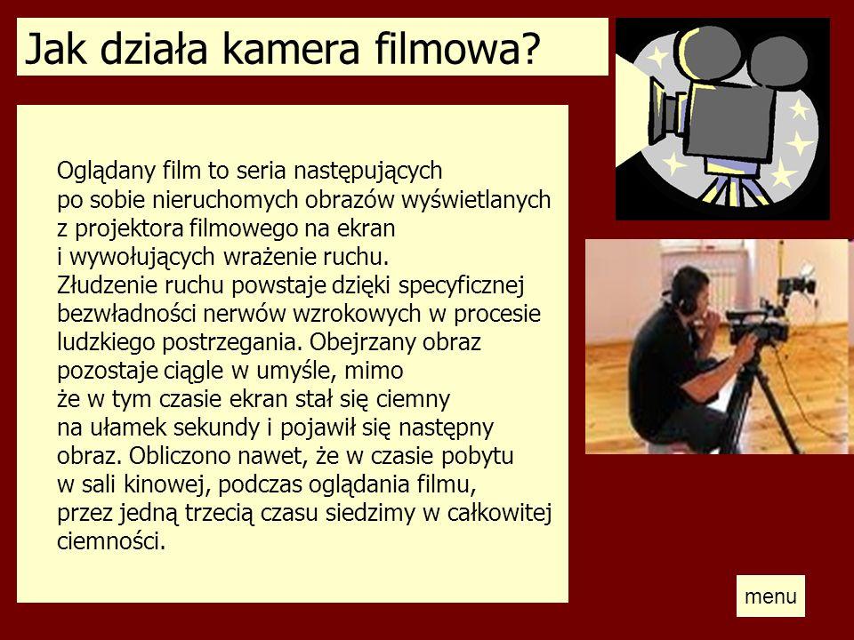 Jak działa kamera filmowa