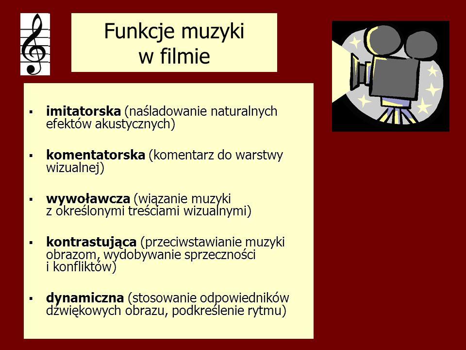 Funkcje muzyki w filmie