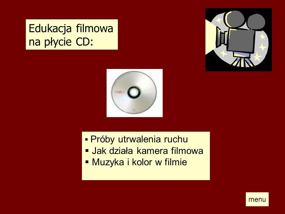 Edukacja filmowa na płycie CD: