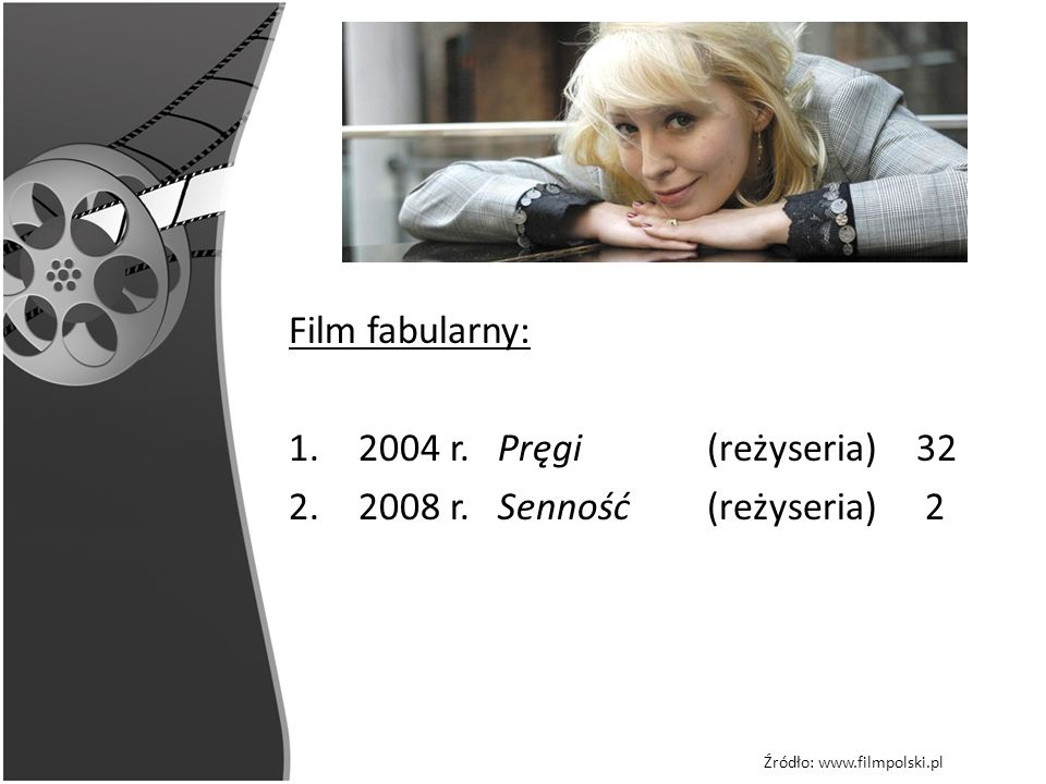 Film fabularny: 2004 r. Pręgi (reżyseria) 32