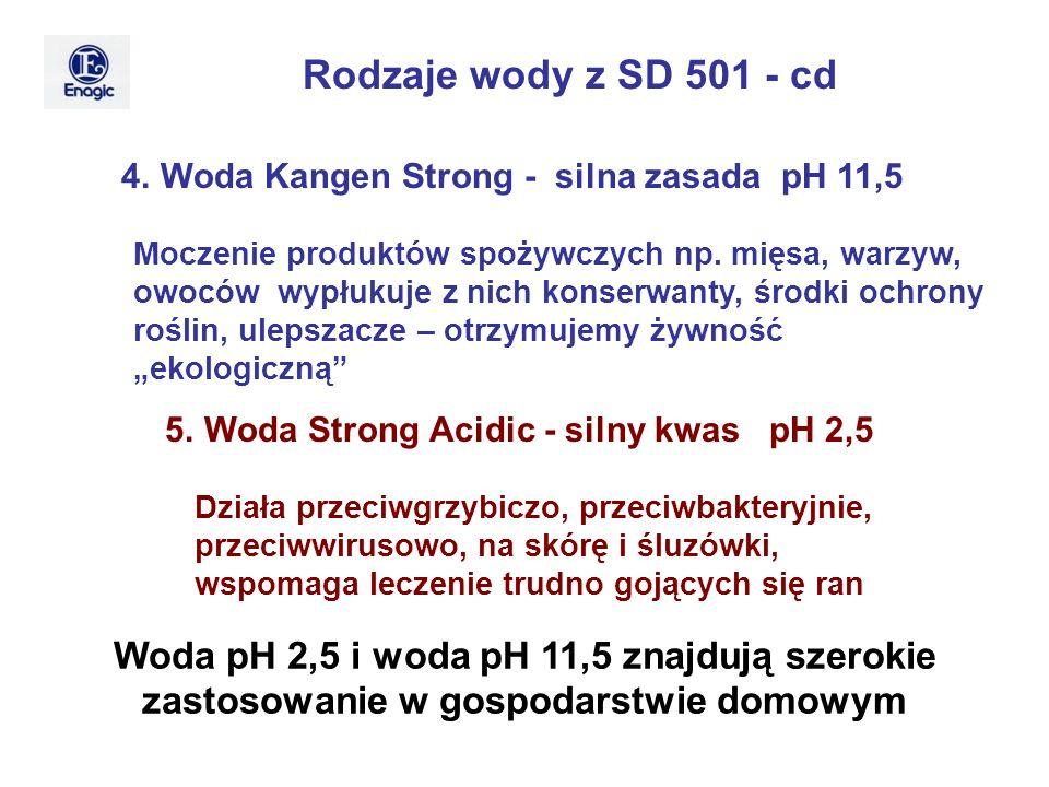 Rodzaje wody z SD 501 - cd 4. Woda Kangen Strong - silna zasada pH 11,5.