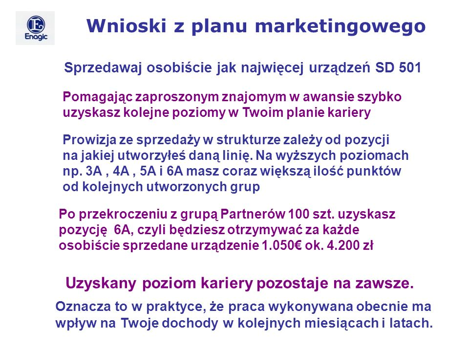 Wnioski z planu marketingowego