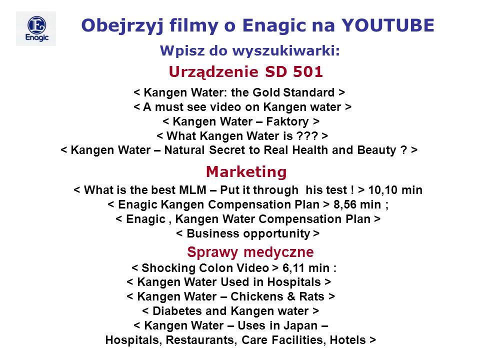 Obejrzyj filmy o Enagic na YOUTUBE Wpisz do wyszukiwarki: