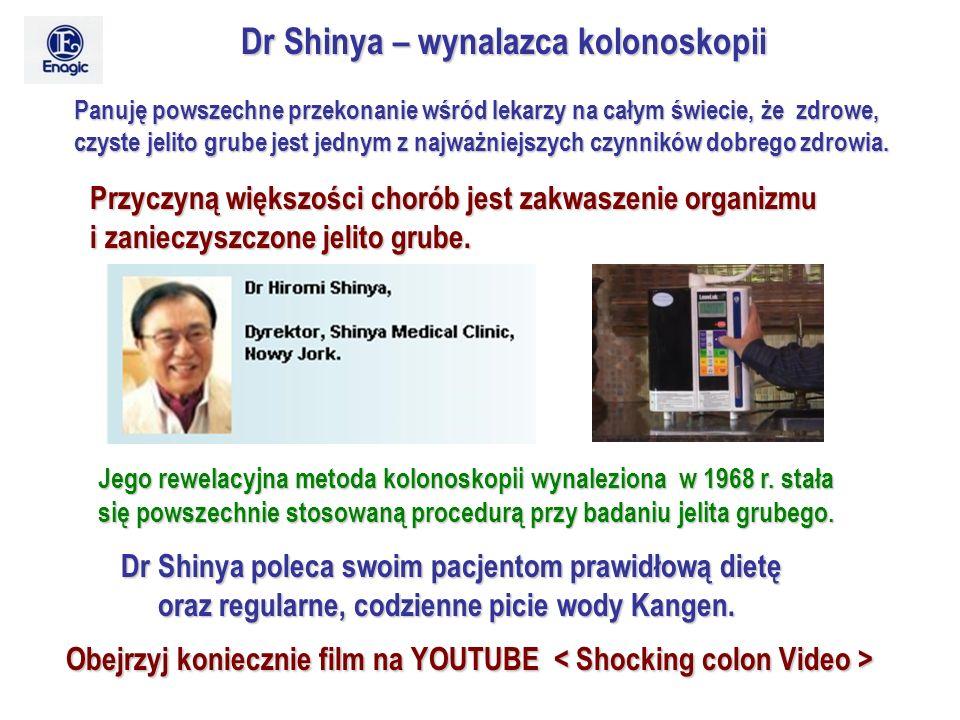 Dr Shinya – wynalazca kolonoskopii