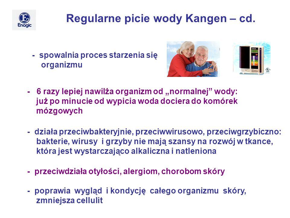 - spowalnia proces starzenia się organizmu