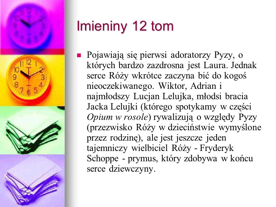 Imieniny 12 tom