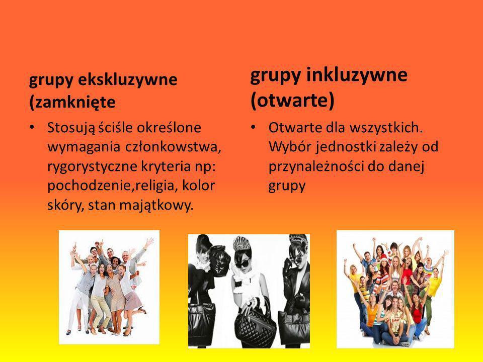 grupy inkluzywne (otwarte)