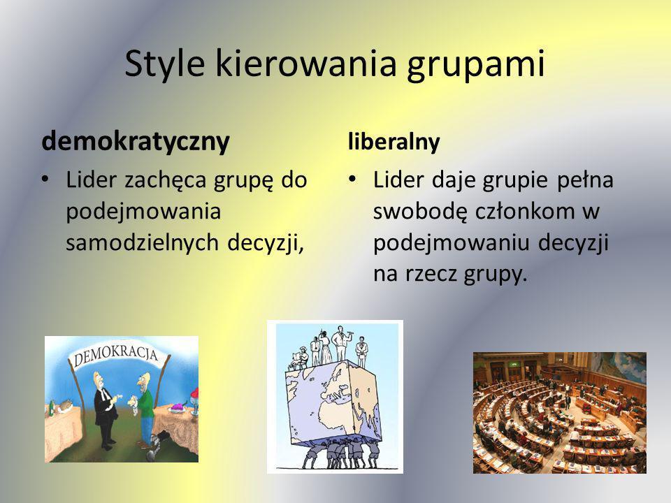 Style kierowania grupami