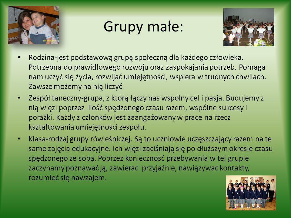Grupy małe: