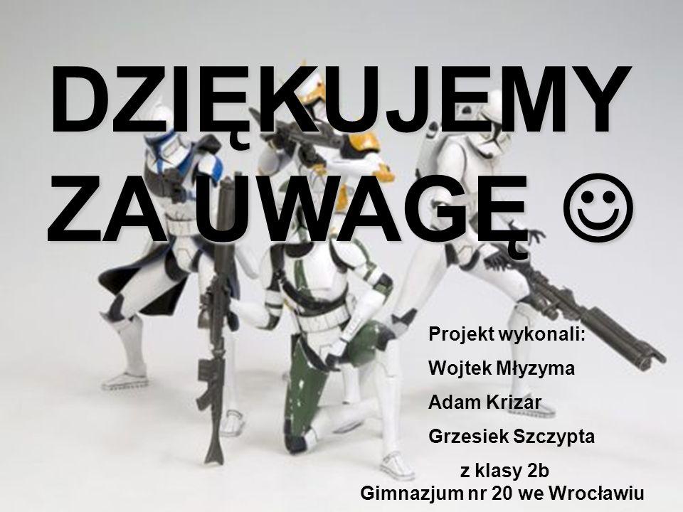 DZIĘKUJEMY ZA UWAGĘ  Projekt wykonali: Wojtek Młyzyma Adam Krizar