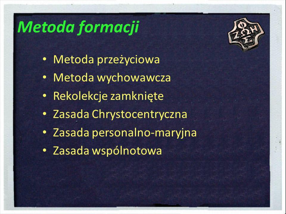 Metoda formacji Metoda przeżyciowa Metoda wychowawcza