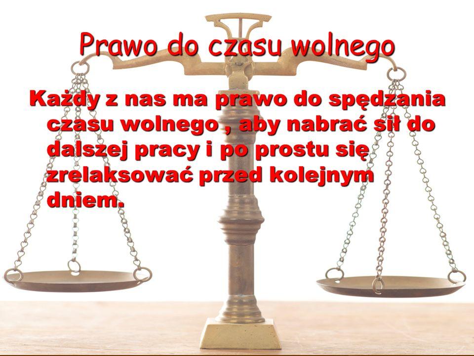 Prawo do czasu wolnego