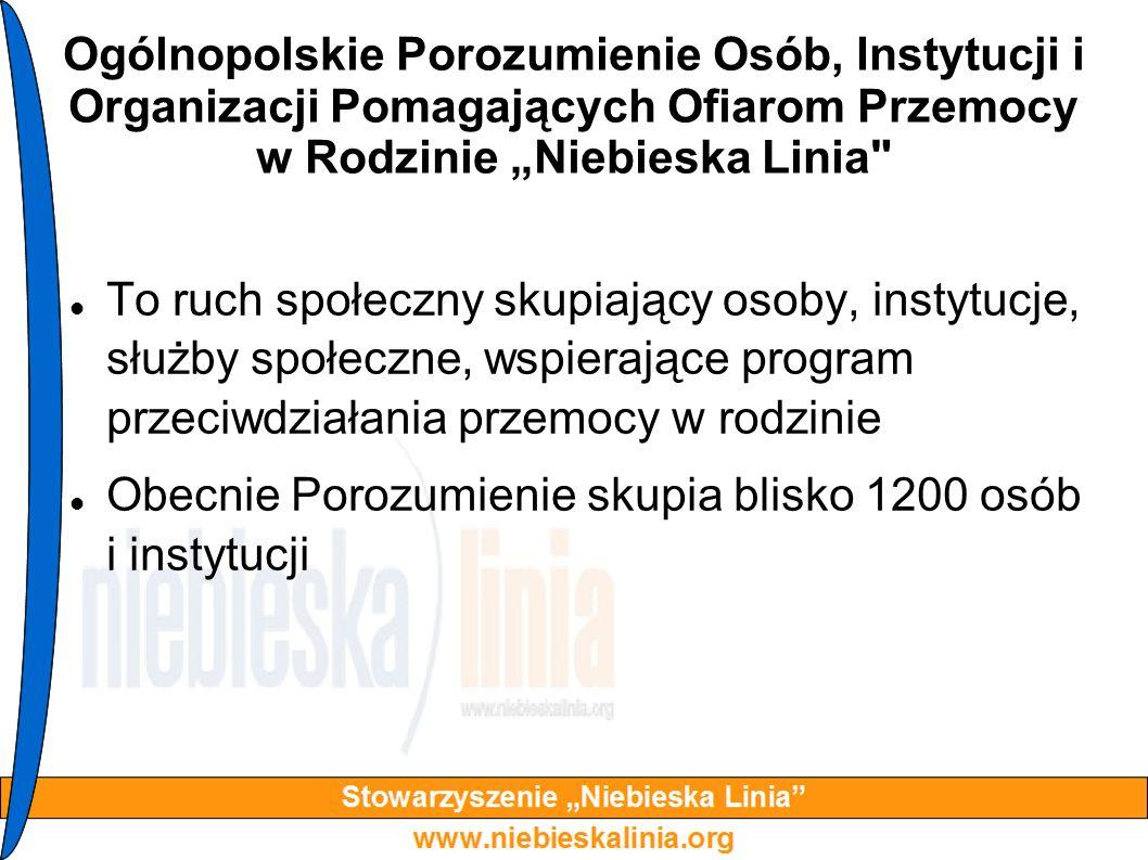 """Ogólnopolskie Porozumienie Osób, Instytucji i Organizacji Pomagających Ofiarom Przemocy w Rodzinie """"Niebieska Linia"""