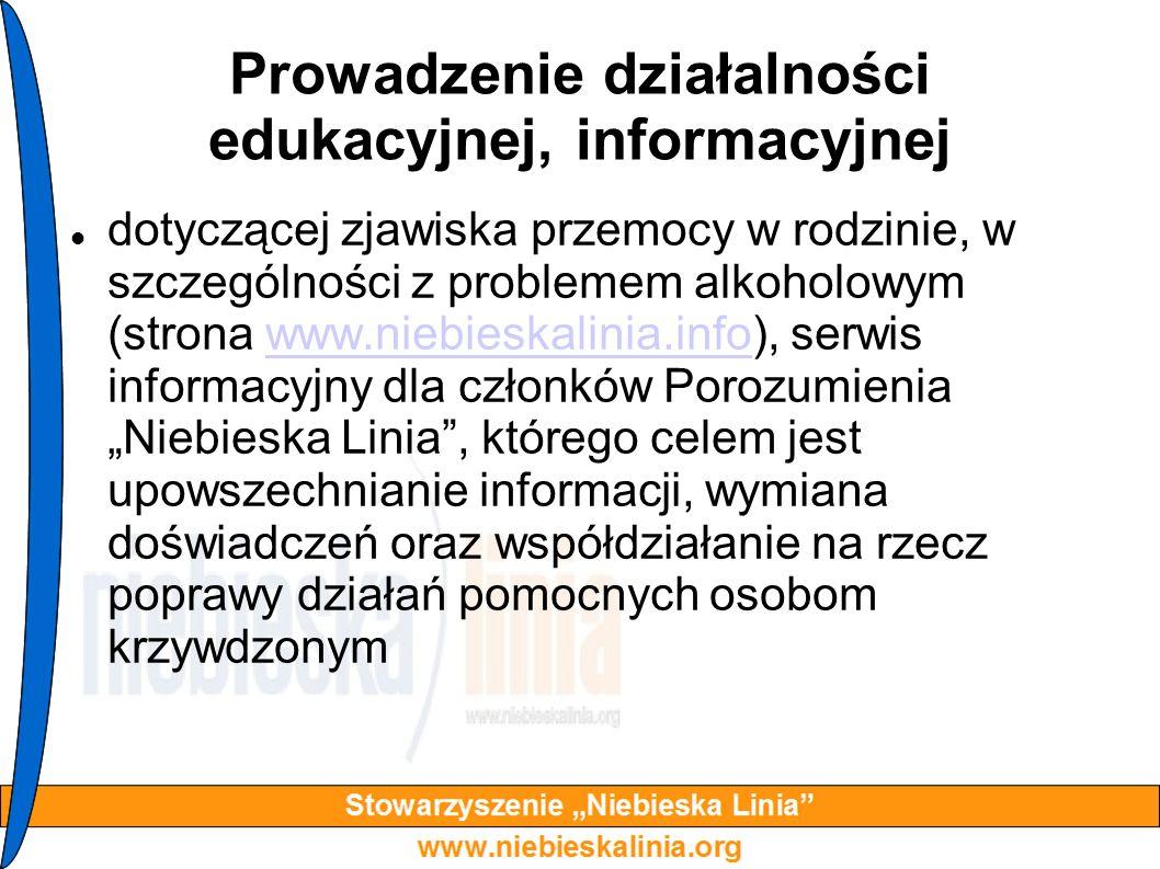 Prowadzenie działalności edukacyjnej, informacyjnej